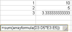Fórmulas matriciales en google spreadsheet (y excel)