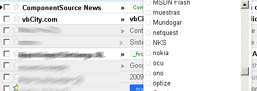 Nueva gestión de labels y ¿carpetas? en gmail