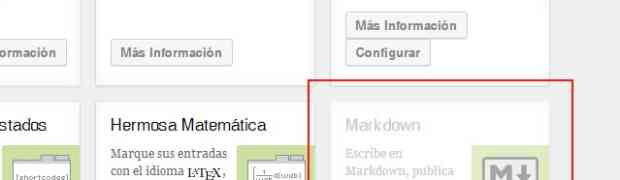 Usar markdown en wordpress