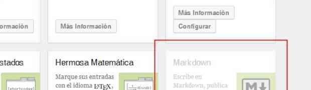 Usar markdown en wordpress